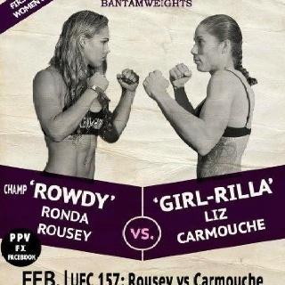 Rousey Vs Correia Poster