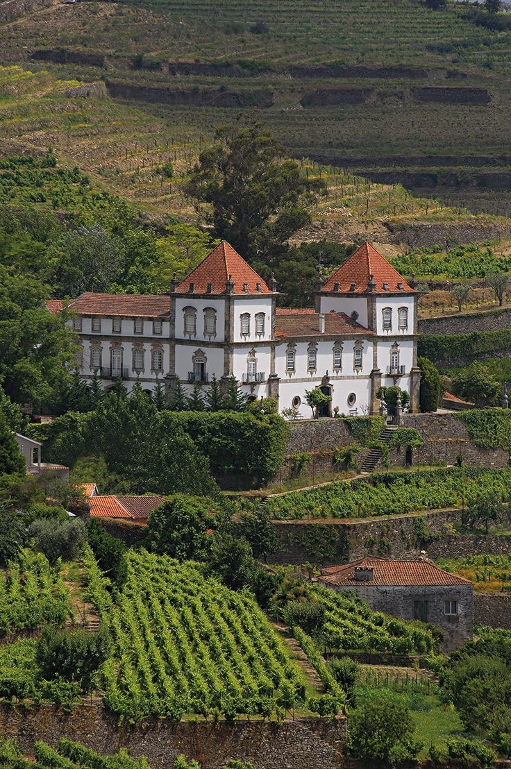 Traditional Baroque style manor hotel in the Douro Valley #Portvineyards #Portugal