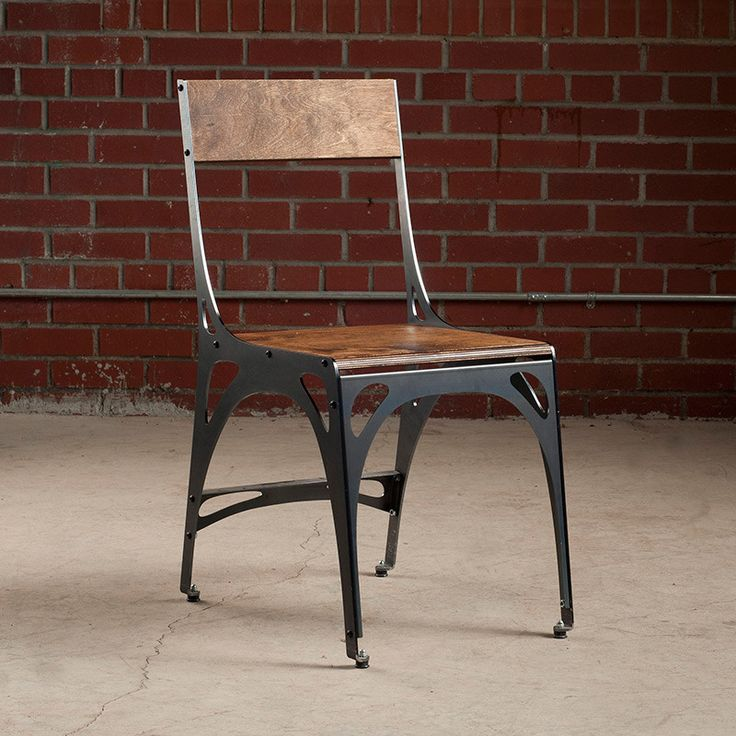 Designed by Marco Pecota, this industrial style dining chair exudes a unique mix of rugged elegance and mid-century modern flair....