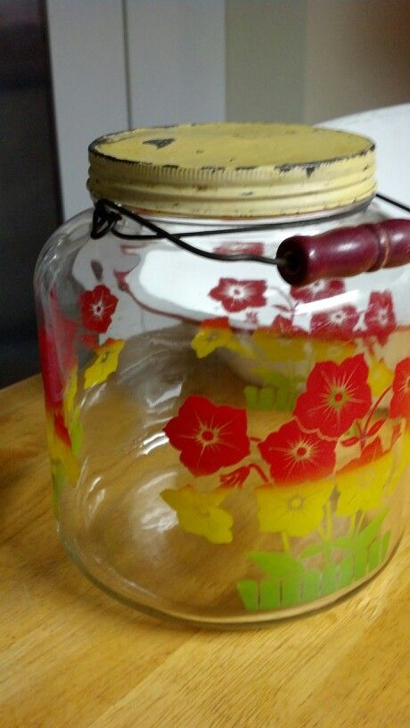 Old pickle jar with handle