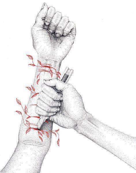 cortadas en los brazos dibujos - Buscar con Google