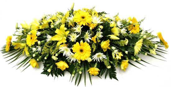 Mixed Yellow Coffin Spray