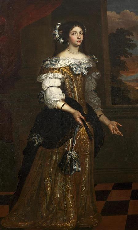 Portrait of Antonia Maria di Castellamonte - Italian artist of the 17th century.