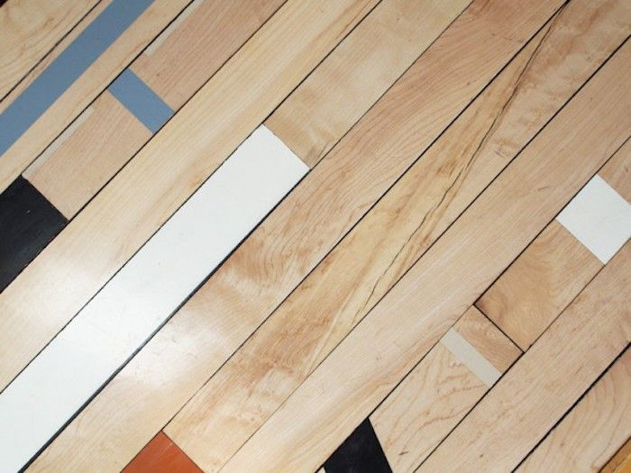 Reclaimed gym flooring from R-Toolbox | Remodelista