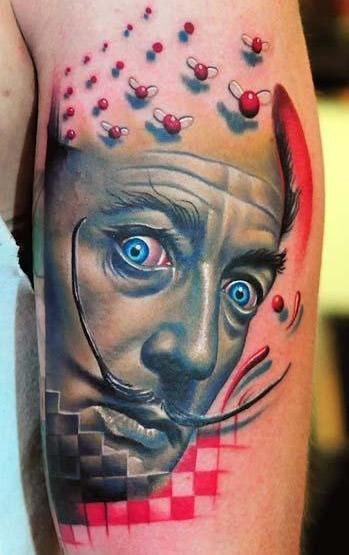 """Salvador Dali Tattoo BEST TATT IVE SEEN FOR A WHILE """" BUT IM STILL LOOKIN AFTER 50 YEARS ! """""""