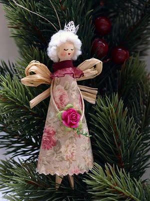 Мои рукоделия и не только...: Ангелочки - МК / Angels (dolly peg dolls) - tutorial