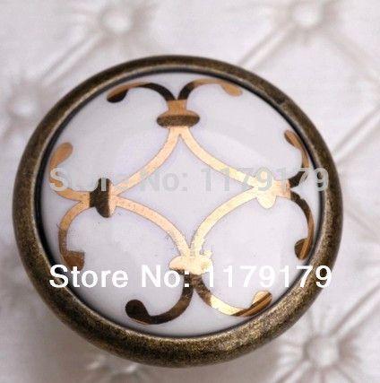 32 мм керамические кухня ручки шкафа ручки бронзовые ящик ручки античная латунь обувной шкаф комод шкаф мебель тянет