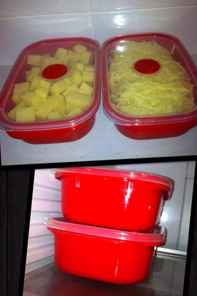 ORGANISED MAMA | CHEESE: 1) blocks can be frozen so stock up when on special 2) cube half kilo block and grate the other half (grating can be done in Thermomix). When you buy pre grated cheese it quite often contains anti caking agents. 3. half kilo fits perfectly in 900ml Decor containers and is ready for sandwiches, salads, and topping your recipes such as lasagna. I find that I am more likely to make a salad/sandwich when I don't have to prep as many things each time.