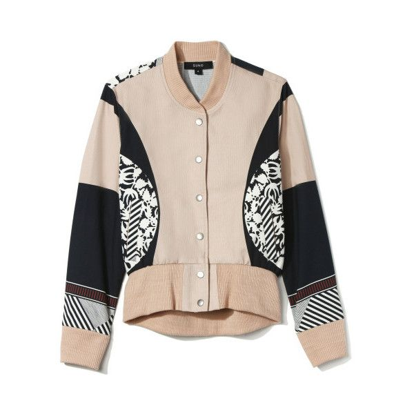 Suno Varsity Jacket (17,595 MXN) ❤ liked on Polyvore featuring outerwear, jackets, coats & jackets, giacche, college jacket, pink jacket, varsity jacket, teddy jacket and suno new york