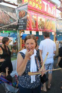 Sticky rice in a bamboo stick is yummy!  International Summer Night Market in Richmond, BC. www.summernightmarket.com