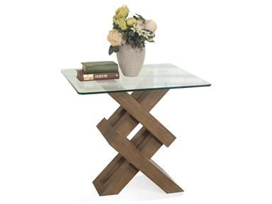 Shop For Riverside Side Table Glass Top And Other Living Room Tops At Union Furniture In MO Constructed Of Hardwood Solids Oak Veneer