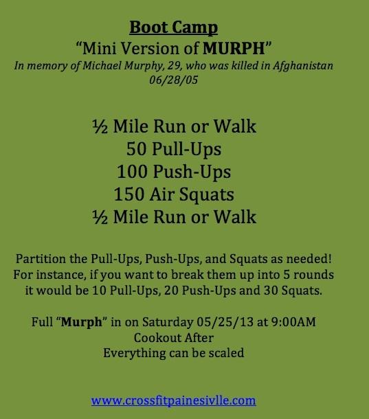 Mini Murph Workout!