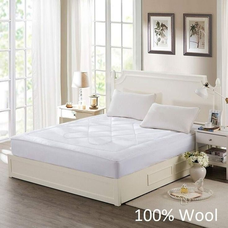 King Single Wool Mattress Topper with Fitted Skirt | Buy King Single Mattress Toppers