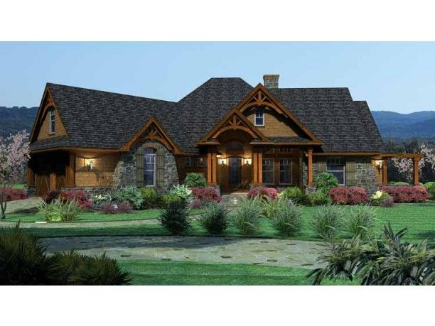 This Lovely Craftsman Style Ranch Home Plan (House Plan Has 2030 Square  Feet Of Living Space. The Floor Plan Includes 3 Bedrooms.