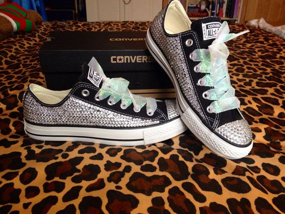3d83833f44099a Ultimate Bling Rhinestone Converse with by ConverseCustomized ...