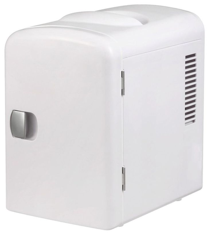 Mini Drink Fridge Portable Cooler White Can Bottle Car Office Dorm Refrigerator #Thermoelectric