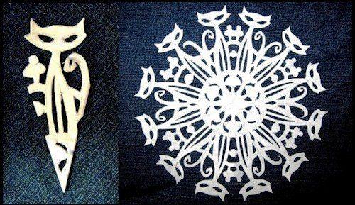 Wonderful DIY Paper Snowflakes With Pattern   WonderfulDIY.com