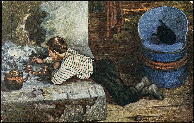 Th. Kittelsen: Askeladdens eventyr, 1900