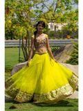 Yellow Color Net Lehenga -  - ethnicyug.myshopify.com