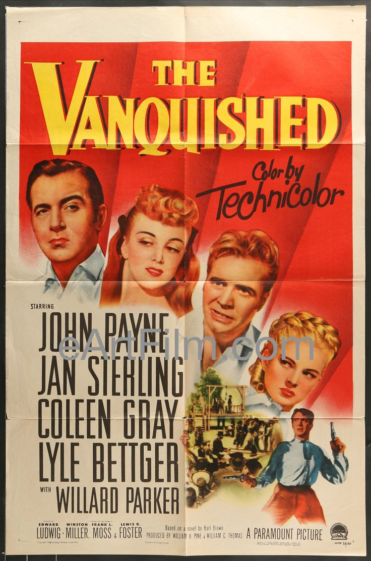 Vanquished-John Payne-Jan Sterling-Coleen Gray-1953-27x41-Western