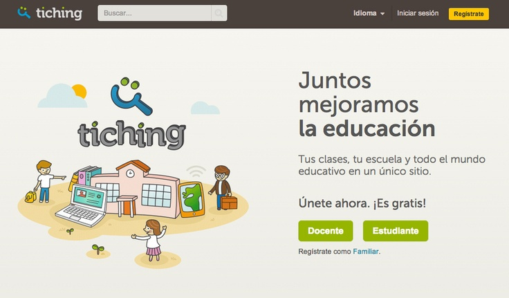Tiching. La red social para la comunidad educativa