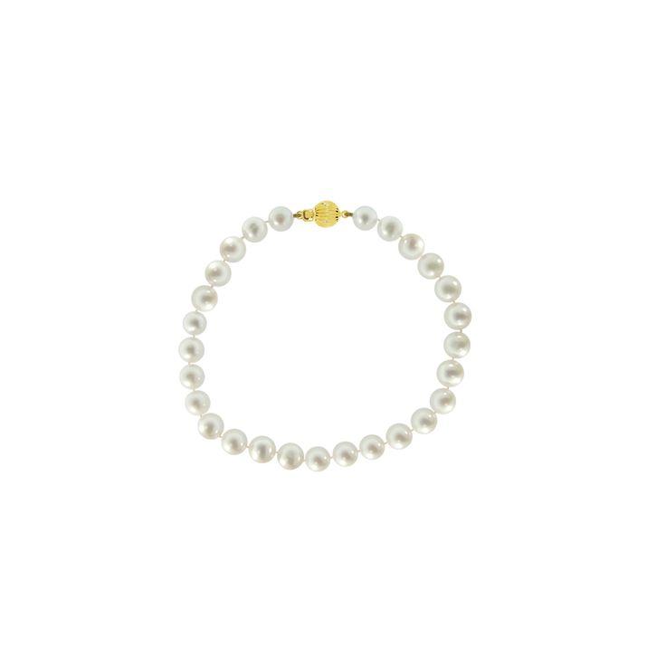 Βραχιόλι με λευκά μαργαριτάρια - G220113