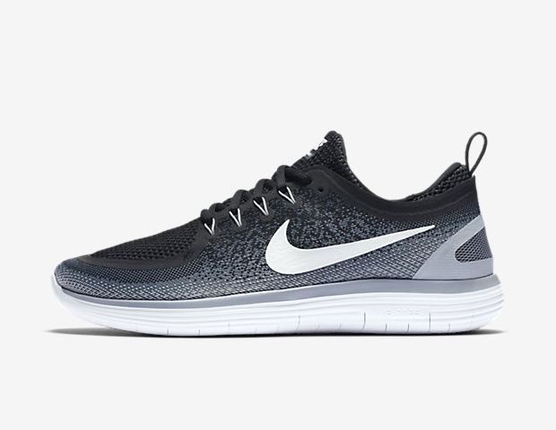 newest 3a05a c6bd8 2017 Men s Woman s Nike Free RN Distance 2 Shoes Black Cool Grey Dark  Grey White 863775-001