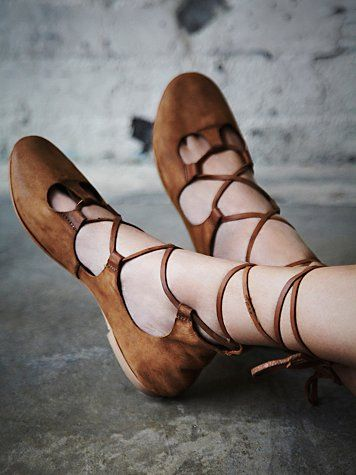 Ghillies!  Maelyn Cradle Flat - Free People great chic fashion footwear for festivals as they are incredibly flexible and comfortable fairy, elf,hippy ,ethnic ,gypsy or pagan style lovers shoes for summer