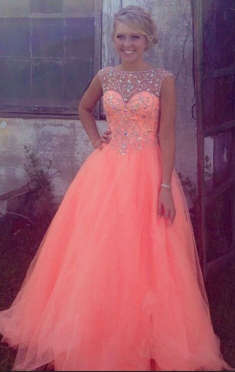 Sparkly Long Prom Dresses,Women Dresses,Graduation Dresses,Pretty A-line Tulle Prom Dresses,Modest Beading Long Prom Dresses For Teens,Saprkly Prom Gowns,Handmade Evening Dresses,Beautiful Party Dresses