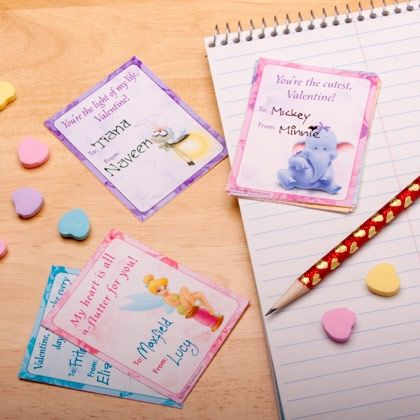 Save yourself a trip to the store — just print and cut these Disney character classroom Valentines.