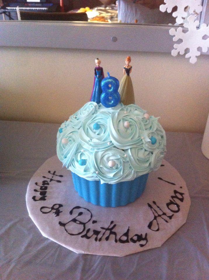 Giant Frozen theme Cupcake!