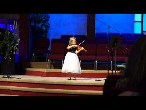 """plays Beethoven's """"Marmot"""" on violin; 2nd Violin Recital—See more of this young violinist #from_JoyfulBlossoms"""