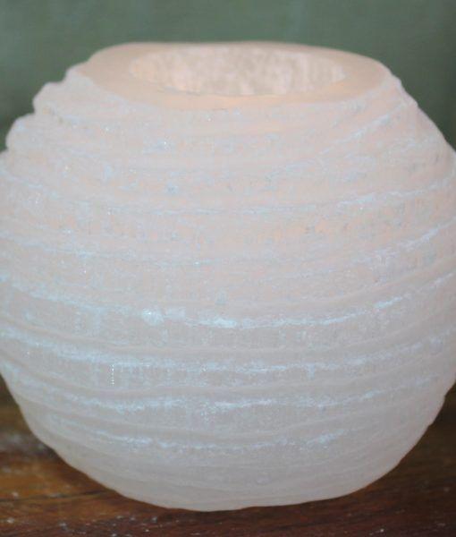 Chinese Lantern Selenite Tealight Holder