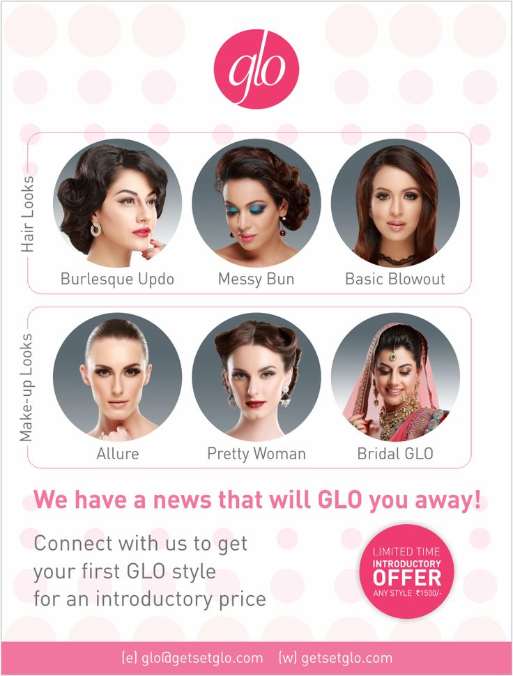 Good news fashionistas! Now you can carry the trendiest #hair and #make-up styles in your pocket!! #Download the GLO #app today and get your first service at #inaugural #price of only INR 1500 - inclusive of hair as well as make-up! Just click on the link and never worry about your #styling needs again! http://bit.ly/1JAo28d