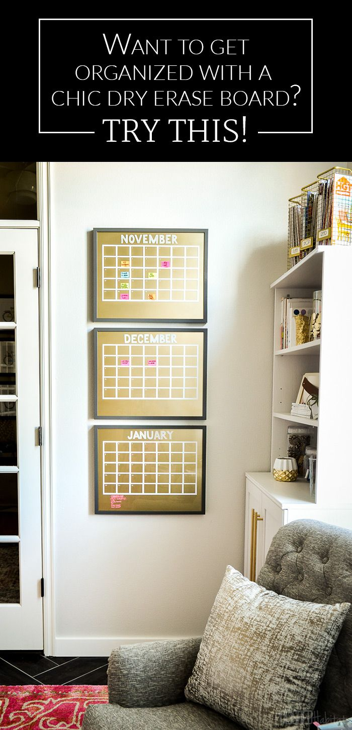 It's easier than you think to create a glam, gold dry erase board. Try this simple tutorial!