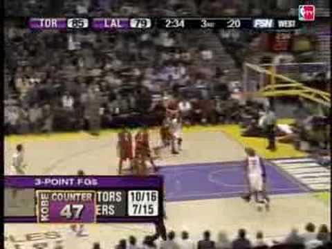Kobe Bryant's 81 point game, January 26, 2006.  Lakers