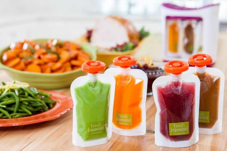 Recipe resource for making reusable fruit/veggie pouches.