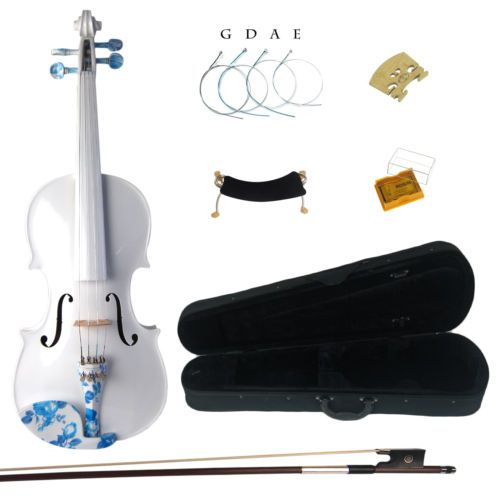 Kinglos 4/4 Full Size Simple Colored Ebony Fitted Solid Wood Violin Kit | eBay