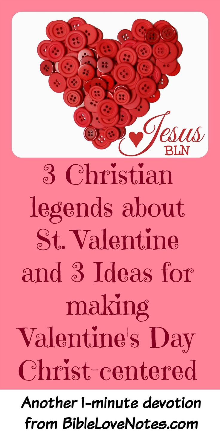 The origins of Valentine's Day are not clear, so don't let let possible pagan stories keep you from creating a Christ-centered tradition for Valentine's Day. Here's 3 ideas.