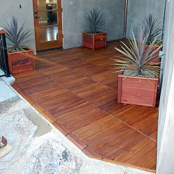 Snap Together Ipe Wood Deck Tiles