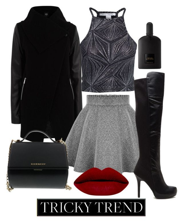 """""""highneckblouse"""" by madalina-elena-istrati on Polyvore featuring NLY Trend, Oasis, Givenchy, Tom Ford, women's clothing, women's fashion, women, female, woman and misses"""