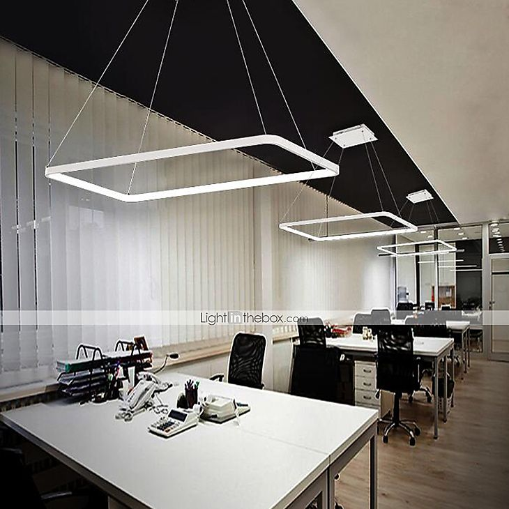 214 94 Ecolight 40 Cm Bulb Included Adjustable Dimmable Pendant Light Metal Acrylic Linear Painted Finishes Modern Contemporary 110 120v 220 240v Linear Pendant Lighting Modern Ceiling Light Fixtures Circular Pendant Light