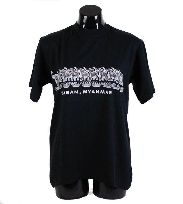 Vintage 90s, Black, Myanmar, Tourist T-Shirt, Top, vintage t-shirt, 90s t-shirt, unisex, 90s clothing, travel t-shirt, souvenir t-shirt by FannyAdamsVC on Etsy