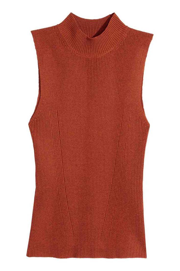 Top sem mangas canelado | H&M