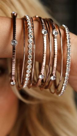 Crystal bangle set I so have this one and love it!! (Minus the first full diamond bracelet of course.) Haha .