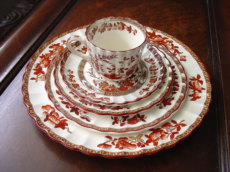 Copeland Spode Indian Tree Rust Fine English China. This Beautiful Pattern  Features A Pearlized Glaze Good Ideas