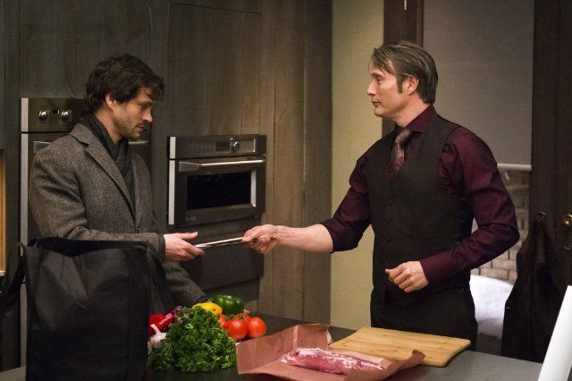 Will Graham & Hannibal (This is one of my fave outfits on Hanni!)