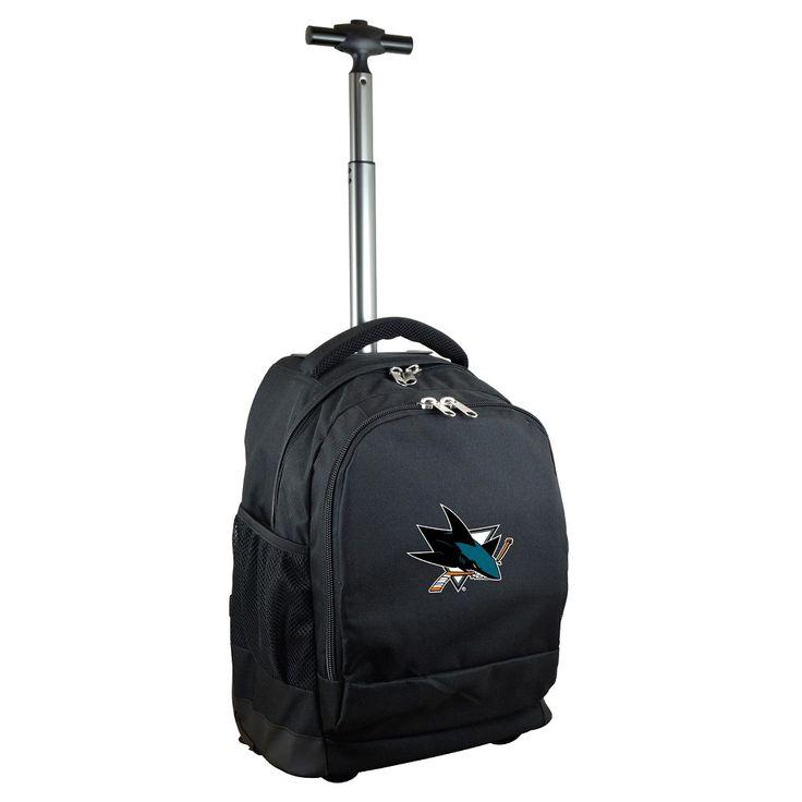 NHL San Jose Sharks Mojo Wheeled Backpack - Black