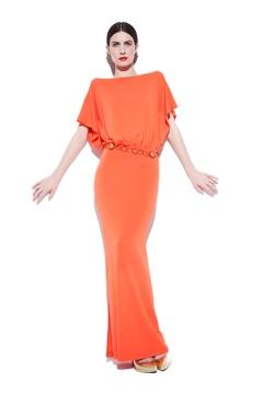 Portia Coral Jersey Dress