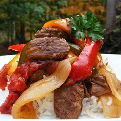 Slow Cooker Pepper Steak